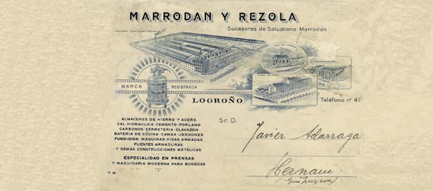 Documento de Marrodán y Rezola