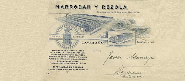 Documento de Marrodán y Rezola